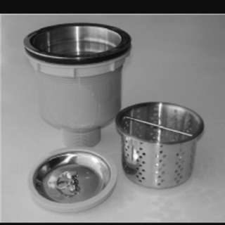 Kitchen Sink Choke/ New Quality (Stainless Steel) Kitchen Sink Waste Basket/ Sink Strainer/ With Free New Bottle Trap/  Free Clearing Of PVC Pipe/ Plumbing Services/