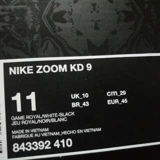 nike zoom Kevindurant9 size11