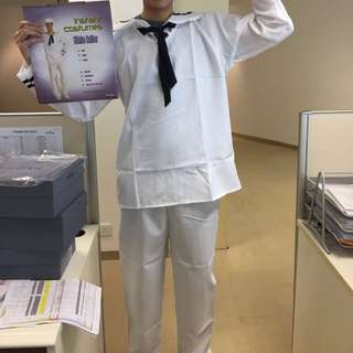 White Sailor Party Costume 水手裝