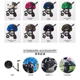 日本AirBuggy 寵物推車/標準款/M size
