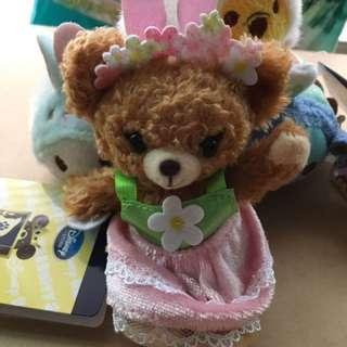 日本迪士尼商店 大學熊 布丁 吊飾玩偶娃娃 Disney unibearsity 春限定 復活節限定