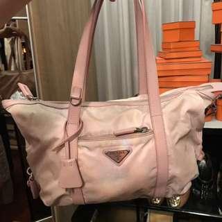 Prada Pink Canvas  Bag