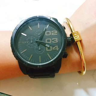DIESEL國際品牌勇者無懼計時腕錶--IP黑/51mm DZ4207