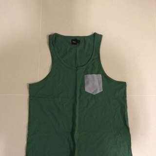 Green Singlet - Small - New