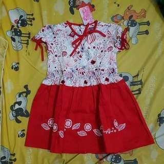 Dress Flowery Red