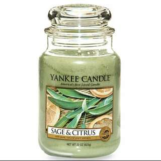 Yankee Candle Big Jar ( Sage and Citrus )