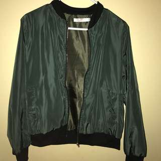Forest Green Bomber Jacket