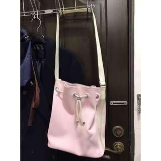 Lacoste粉紅色水桶包-正品-鱷魚牌