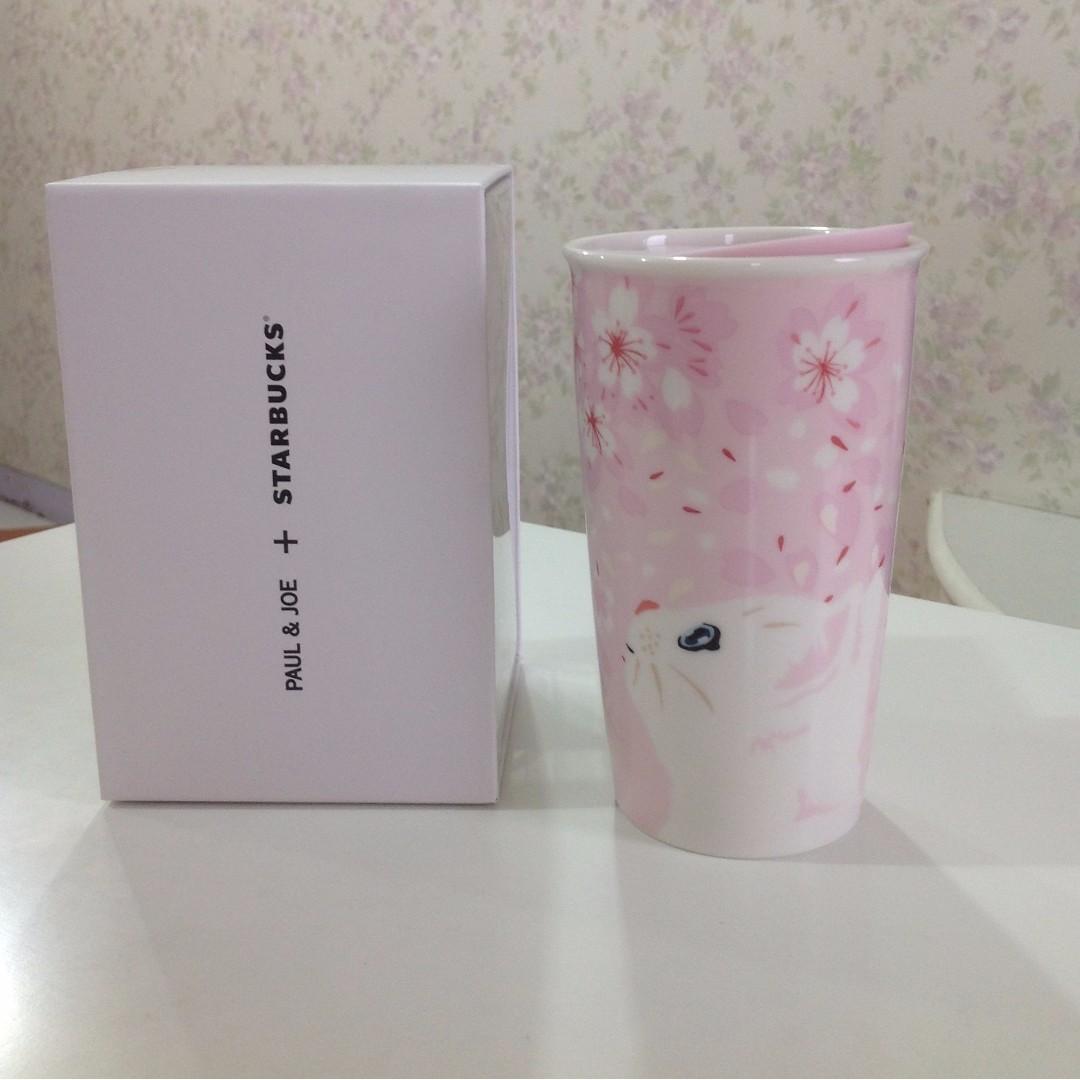 (可小議價) 星巴克 Starbucks Paul&joe 櫻花貓咪雙層馬克杯