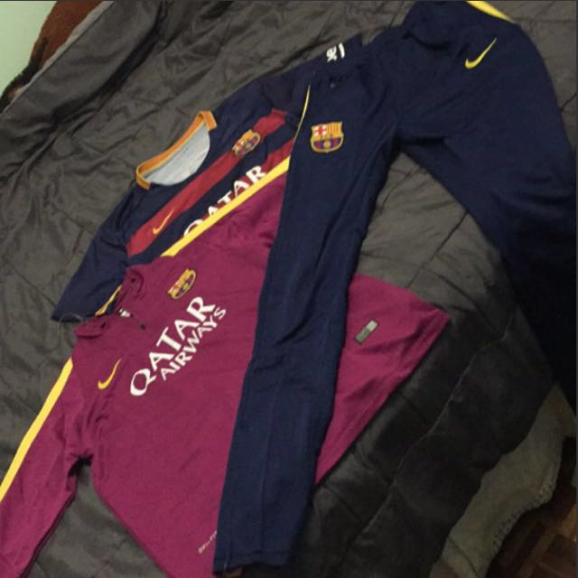 ( all different prices )nike barcelona jerseys and training kit