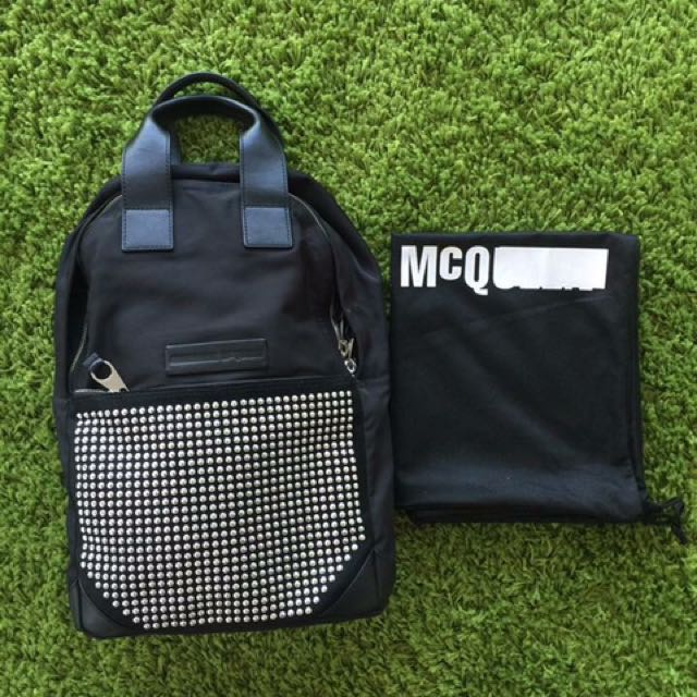 NWT ***PRICE MARKED DOWN***Alexander McQueen Double Zipper Backpack