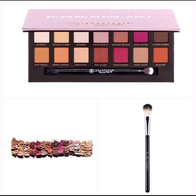 Anastasia Beverly Hills Modern Renaissance Eyeshadow Pallette + Anastasia A23 Brush
