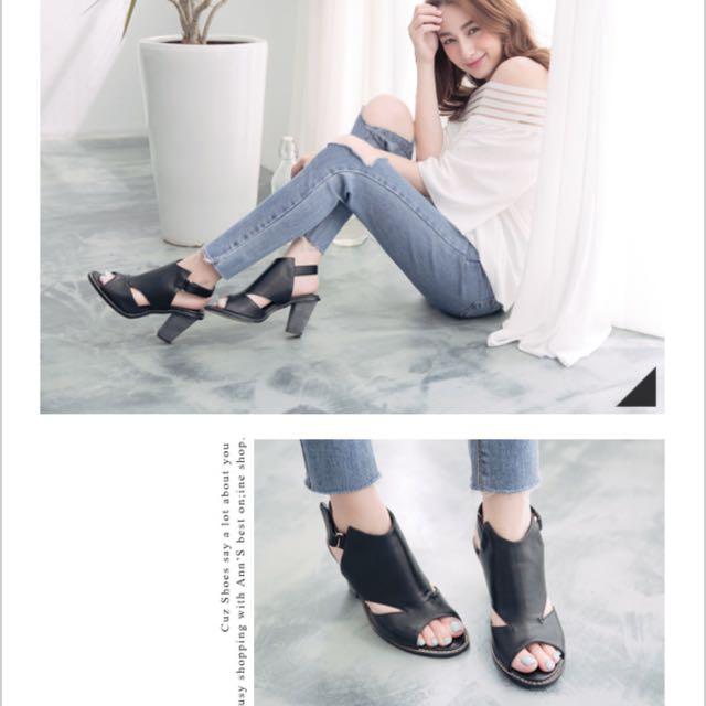 Ann's粗跟涼鞋