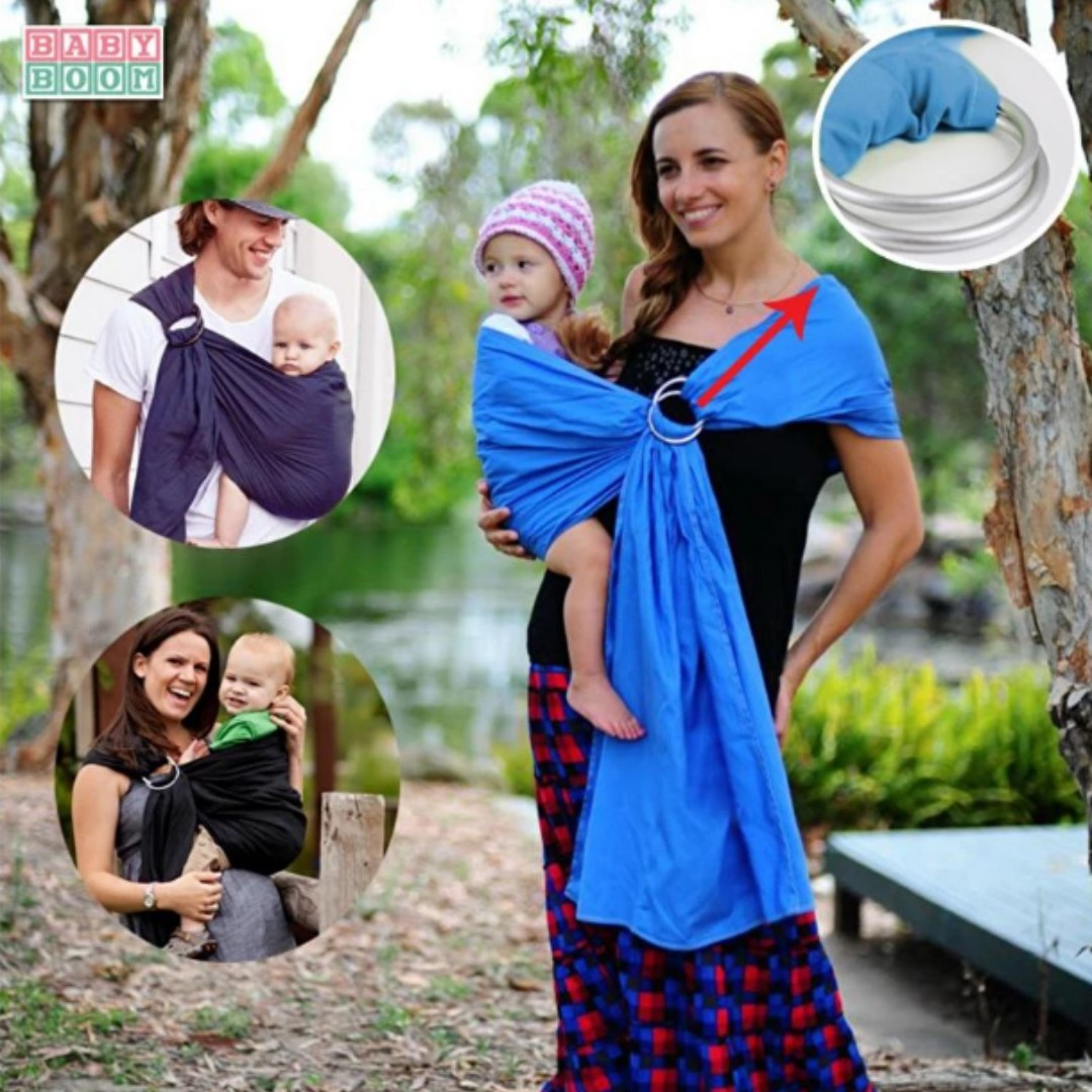 Baby Boom Premium Adjustable And Breathable Ring Sling Baby Carrier