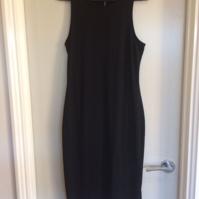 Black Over Knee Dress