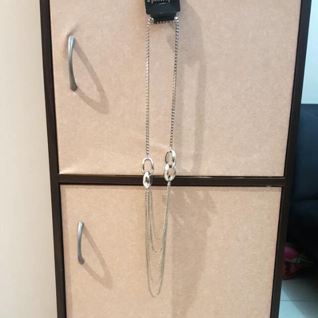 BNWT A'postrophe Silver Long Vogue Necklace