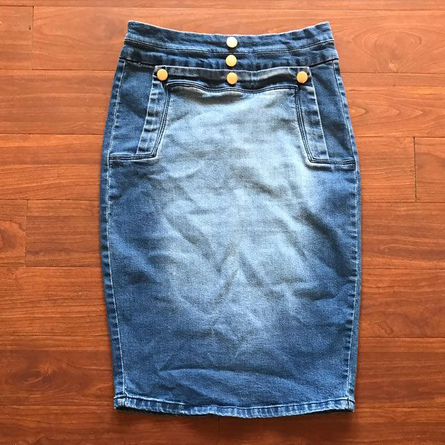 f7131ef015 Brand New Valleygirl High Waisted Denim Skirt Size 8, Women's Fashion,  Clothes on Carousell