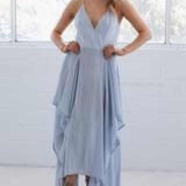 Carlita Maxi Dress- Ash Blue 8