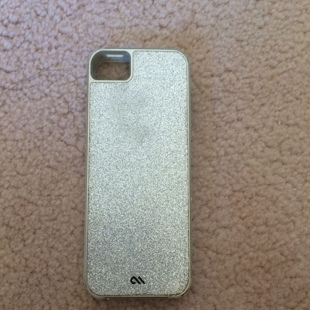 CASE-MATE Silver Glittery iPhone 5/5s/SE Case