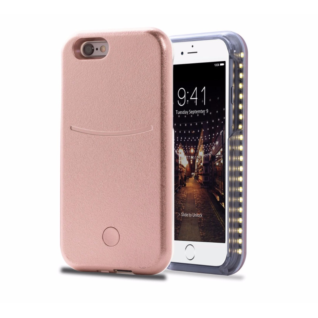 new concept 6aa67 b4414 CPA5086PK - New LED White Light Up Latest Selfie Phone Case Cover For  iPhone 5S/ SE /5 (Rose Gold)