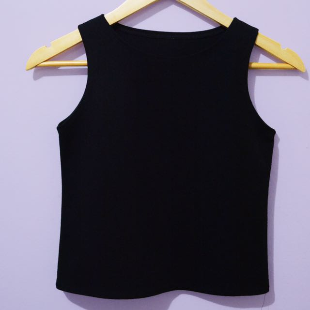 Cropped Top Round Neck Sleeveless
