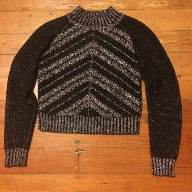 Cue Polo Neck Cropped Jumper