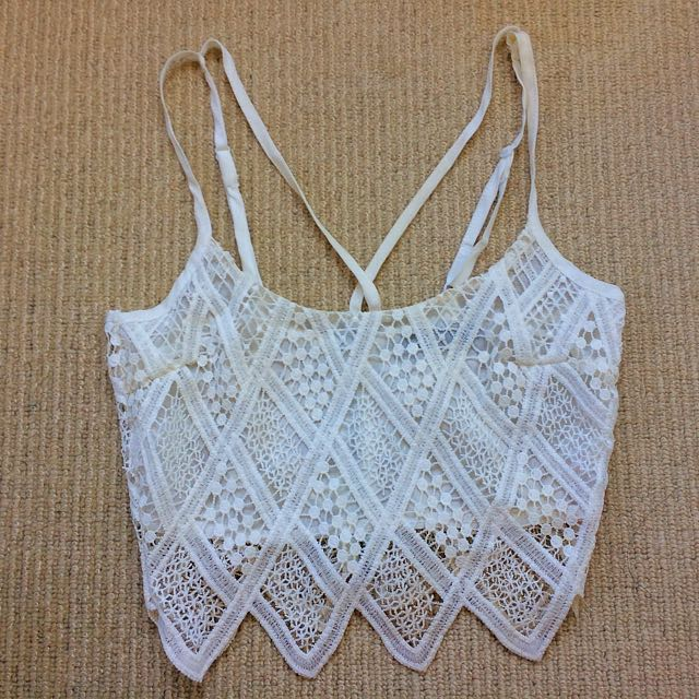 Cute white crop top