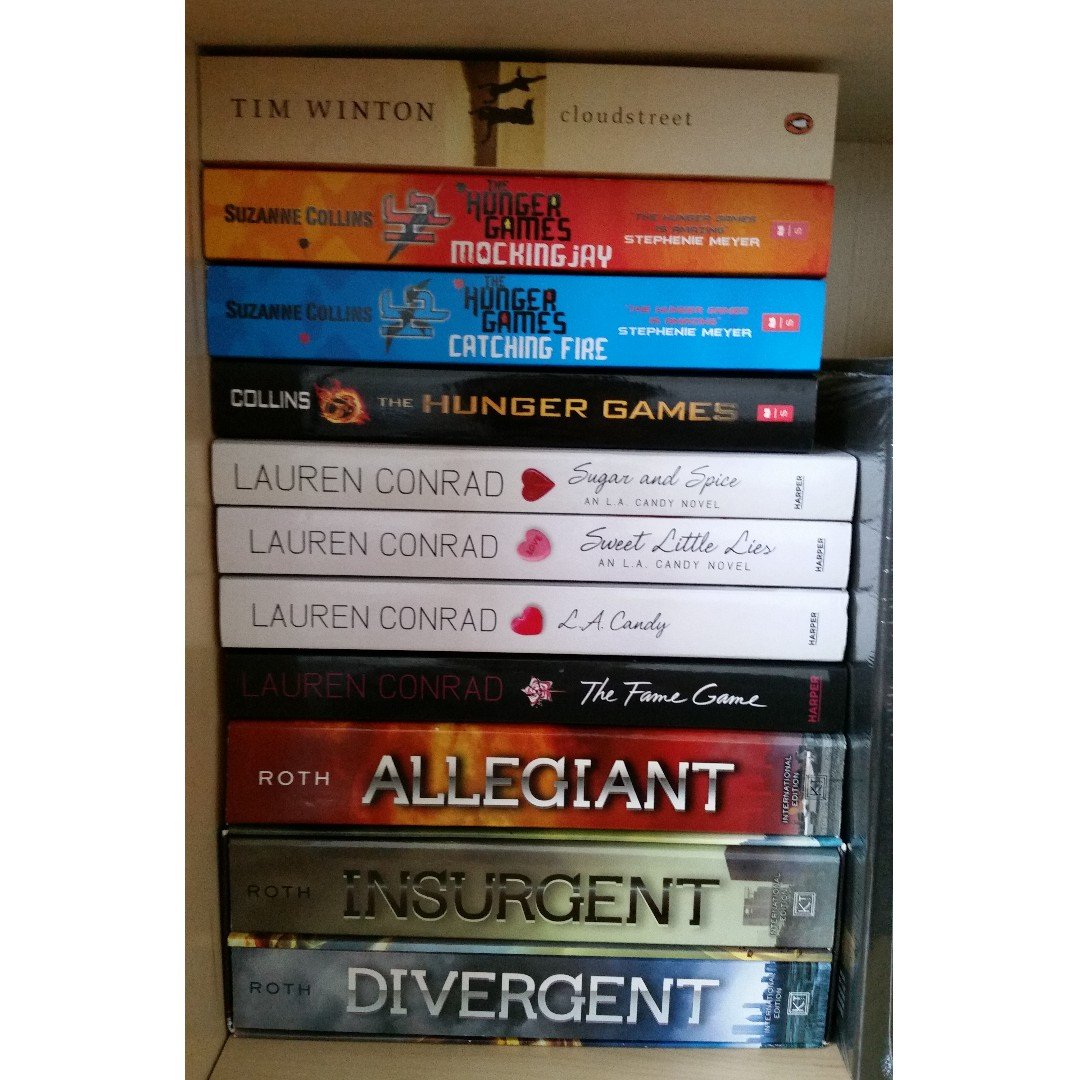 Divergent Series, LA Candy Series, Hunger Games series, Cloudstreet