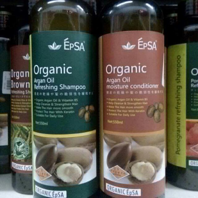 550ml Argan Oil Organic Shampoo And Conditioner EPSA