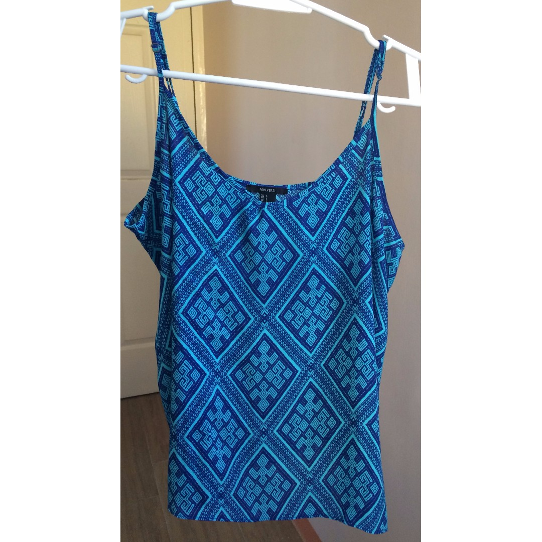 Forever21 Blue Printed Top