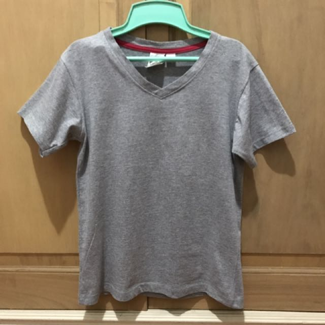 Gray Vneck Shirt