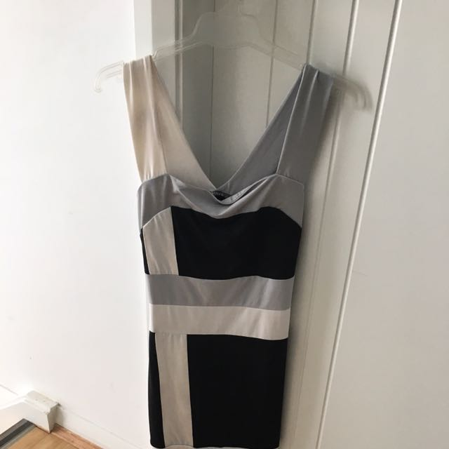 Grey, Black And White Dress