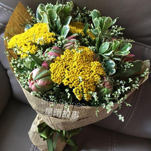 鮮花花束 Hand-tied bouquet