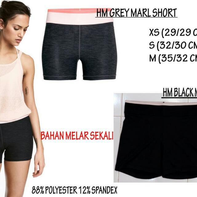 H&M GREY MARL SHORT