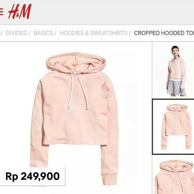 Hnm Cropped Hooded