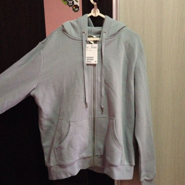 Jacket Hoodie Baby Blue By H M 1bba1ab841