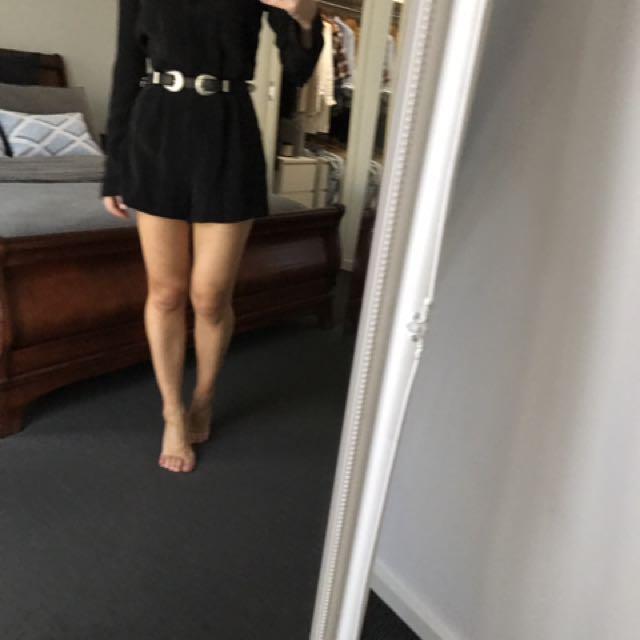 Kookaï Satin/silk Black Jumpsuit