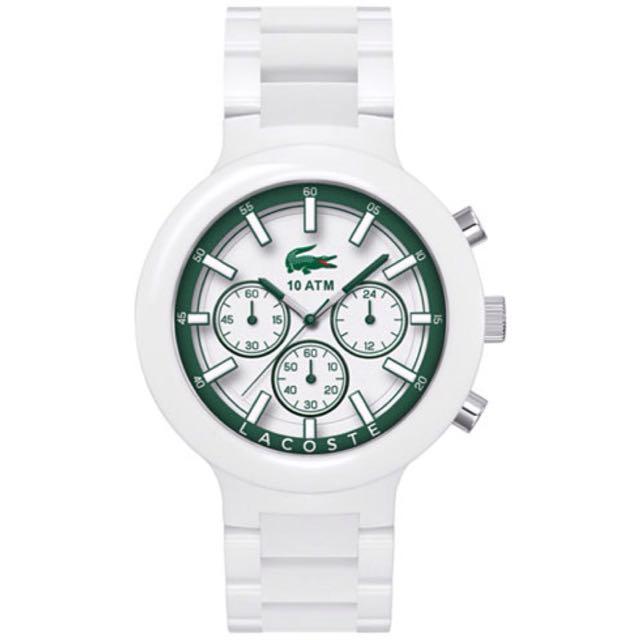 LACOSTE Men's Chronograph Borneo White Resin Composite Bracelet Watch