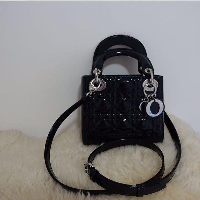 Lady Dior Black Patent