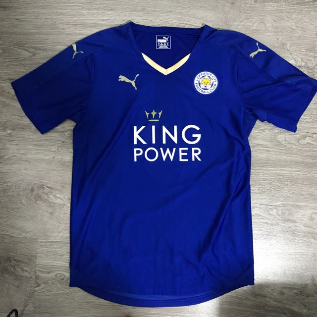 Leicester City Jersey Home 15 16 Original Size M Vardy 9 Sports Sports Apparel On Carousell