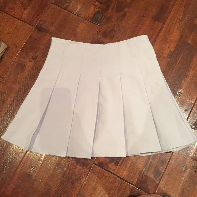 Light Grey A-line Skirt