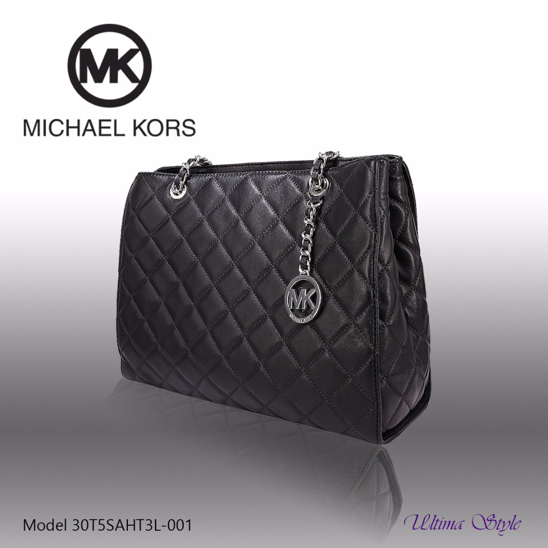 bbd04f45af40 Michael Kors Susannah Medium Quilted-Leather Tote (Black), Women's Fashion,  Bags & Wallets on Carousell
