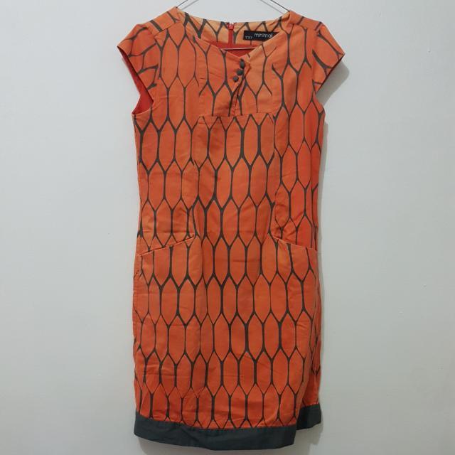 Minimal Dress Orange