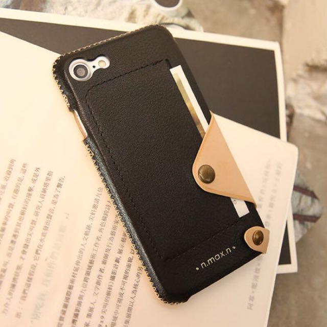 【n.max.n】iPhone 7 極簡系列皮革保護套(側入式)