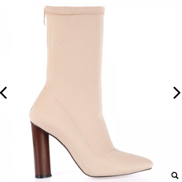 Nude Lycra Boots