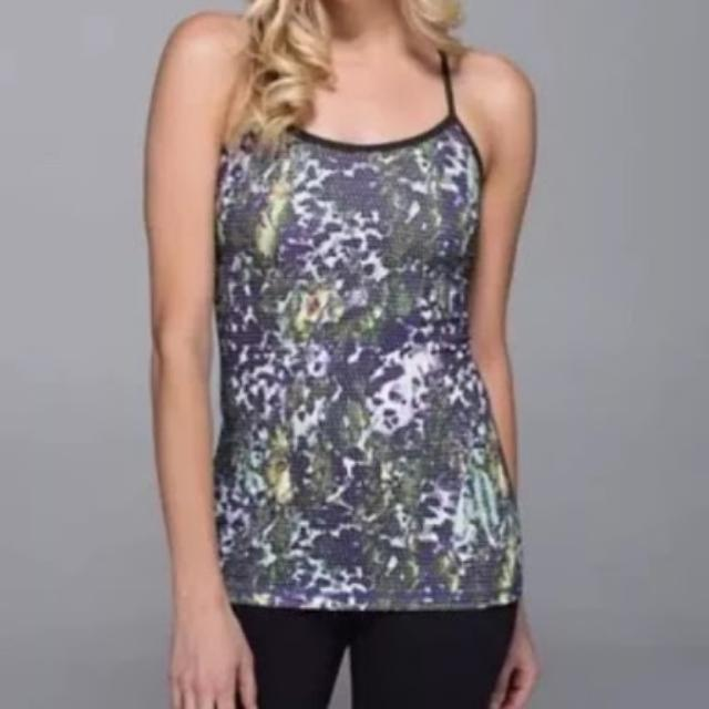5b2aa457ab2313 NWT Lululemon Power Y Tank Army Green Purple FSWM 4