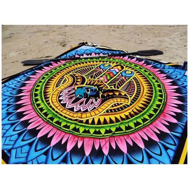 Palm Eye Power Tapestry Bedspread Wall Hanging Beach Throw