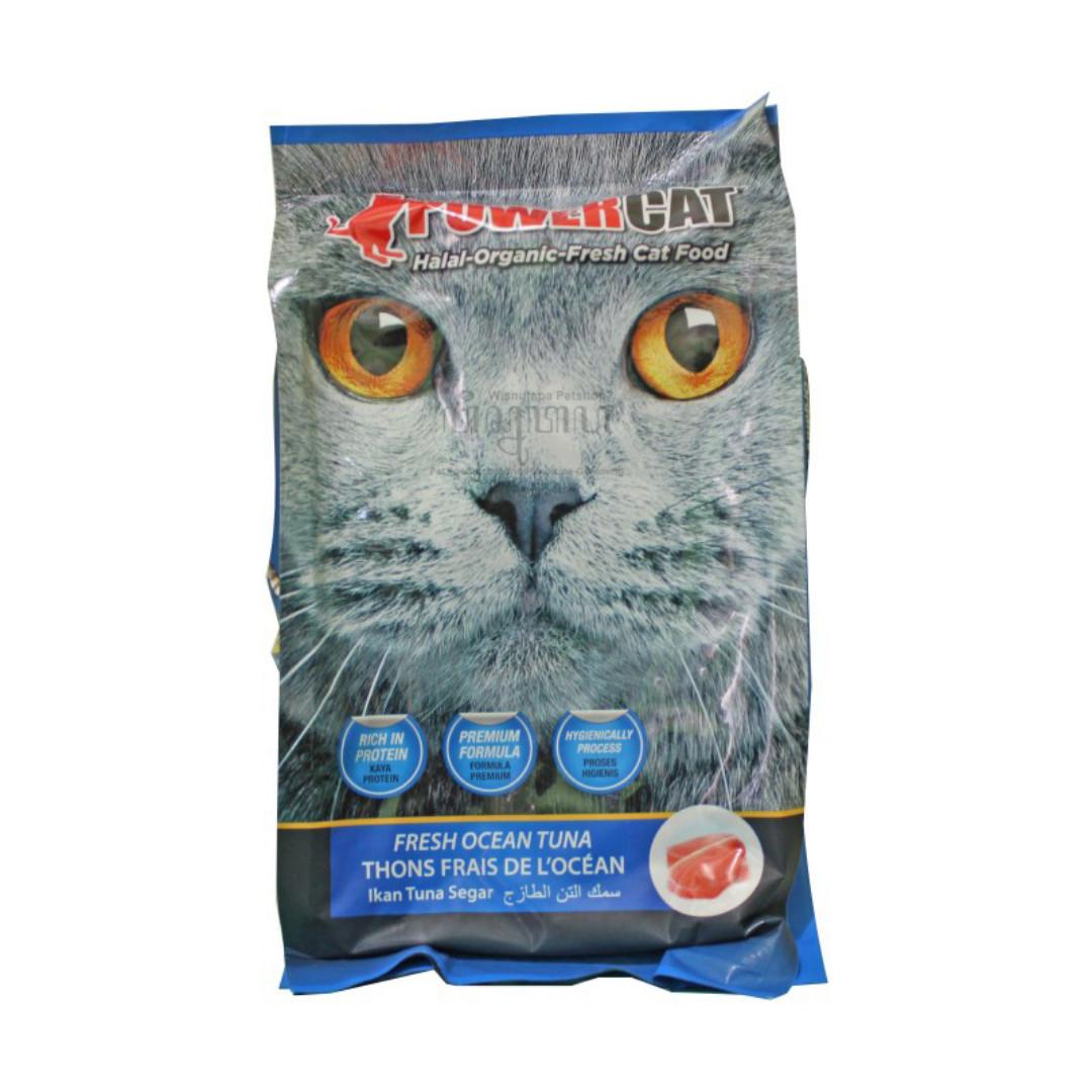 Powercat Fresh Ocean Tuna Cat Food Makanan Kucing Wisnutapa Rasa Tuna 500 Gram