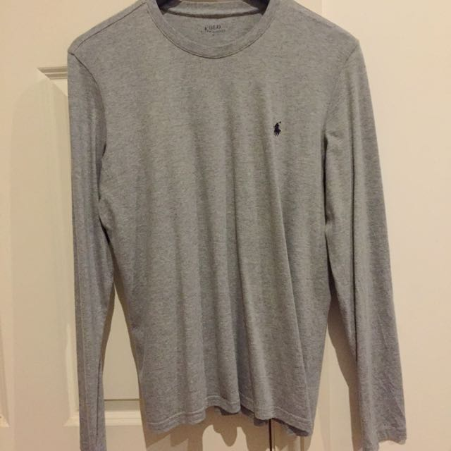 RALPH LAUREN Long Sleeve Cotton Top - Size Small