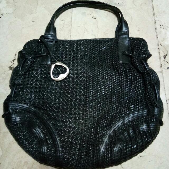 Sabrina Scala Woven Leather Bag